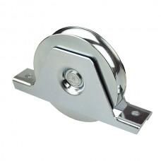 Sliding door castors with screw fixing 1 bearing
