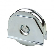 Wheel with welded support ØD 100 round channel of 16.