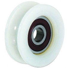 Wheel with screw ØD 120 round channel of 20 in Nylon.