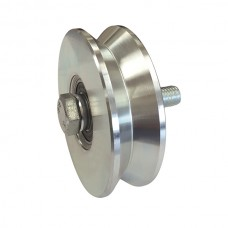 Double bearing wheel, with screw, ØD 100, angular channel.
