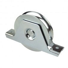 Wheel with internal support to screw ØD 120 round channel of 20 in stainless steel