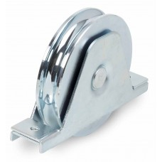 Double-bearing wheel with internal support for screwing ØD 140 round channel