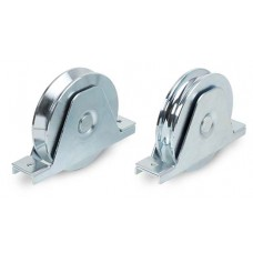 Double-bearing wheel with internal support for screwing ØD 160 round channel