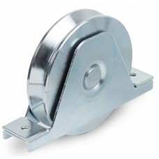 Double bearing wheel with internal support for screwing ØD 200 angular channel
