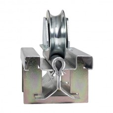 Bottom rail for fitting, 20 to 3 metre round channel, for sliding doors, flat mounted.