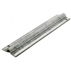 Lower superimposed rail, round channel from 20 to 3 meters, for sliding door, in stainless steel