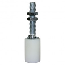 Fixed Nylon Guide Roller 40 x 60 mm for lateral guidance M-16, extra long 200 mm.