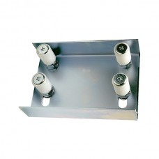Small stainless steel adjustable support with 4 nylon guide rollers 30x40.