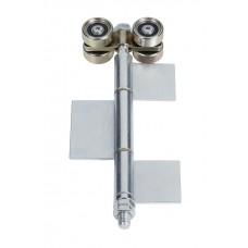 Double hanger U 50x45 and welded hinge with 40 mm galvanised blade