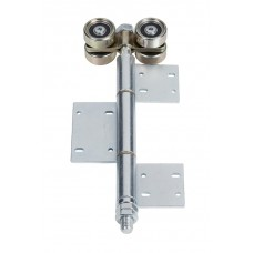 Double hanger U 50x45 and hinge to screw on 45° blade, zinc-plated