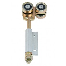 Double hanger U 50x45 and side hinge to screw on short zinc-coated blade