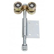 Double hanger U 50x45 and side hinge to screw on a 45° galvanised blade