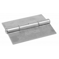 Book hinge 150x100 with polished plate washer