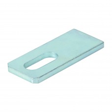 Slotted plate for welding L130 d=21 grey