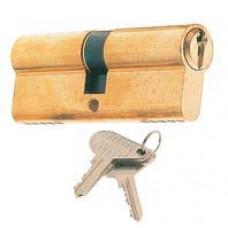 1/2 euro profile cylinder 40 30+10 serrated brass.