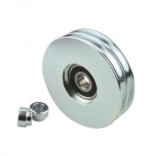 Steel pulley 100 two channel.