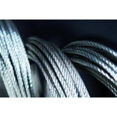 Galvanised steel cables 5 m/m roll 100 m composition 6x37+1.
