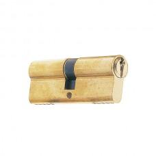 Euro profile cylinder 80 40+40 serrated brass.