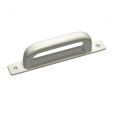 Aluminium straight plate handle.