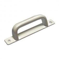 Aluminium handle, silver plated.