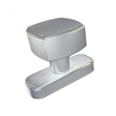 Recoverable aluminium knob, natural anodised.