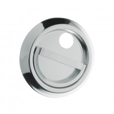 """Silver"""" stainless steel overlay shield."""
