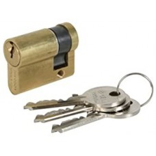 1/2 Euro-profile cylinder 70 60+10 serrated brass