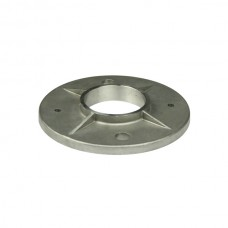 Round base of 43 AISI 316 stainless steel.