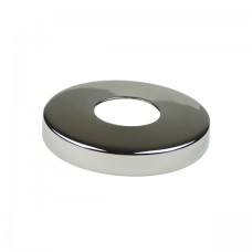 Round base cover of 43 AISI 316 stainless steel.