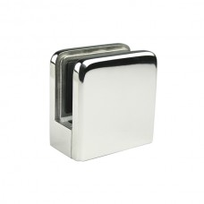 Flat square glass clamp 6-8-10 Stainless steel AISI 316.