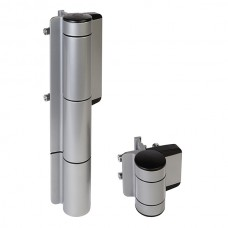 Hydraulic door closer and adjustable hinge.