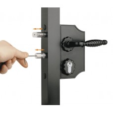 Overlapping stainless steel lock mod. forge 30-50 black.