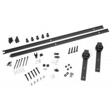 Complete kit for sliding barn door model CUADRO