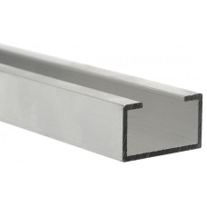Aluminium profile with rubber support 25x2mts.