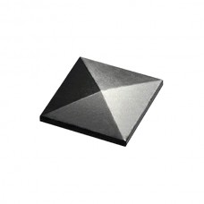 Covers square tube in grey steel