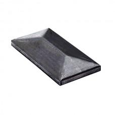 Rectangular tube covers in galvanised steel