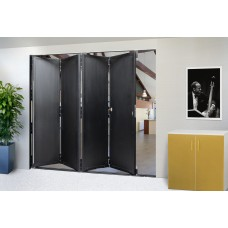 Hardware for hinged or booklet sliding doors