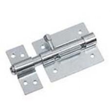 Lockable bolt with detachable flap