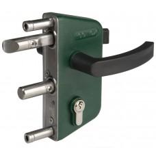 Superimposed locks in steel aisi 304