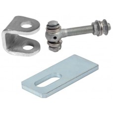 Adjustable steel hinge components